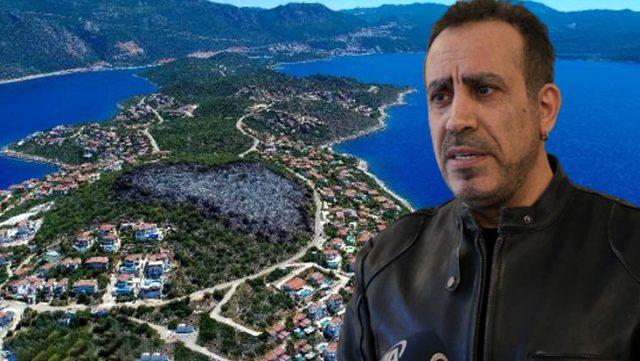 Haluk Levent, Kaş'ta yanan 25 dönümlük alanı ağaçlandırmak için çalışmalara başladı