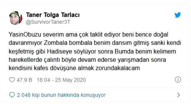 Taner Tolga Tarlacı, kendisini taklit ettiğini ileri sürdüğü Yasin'e gözdağı verdi: Onu kafes dövüşüne alacağım Magazin