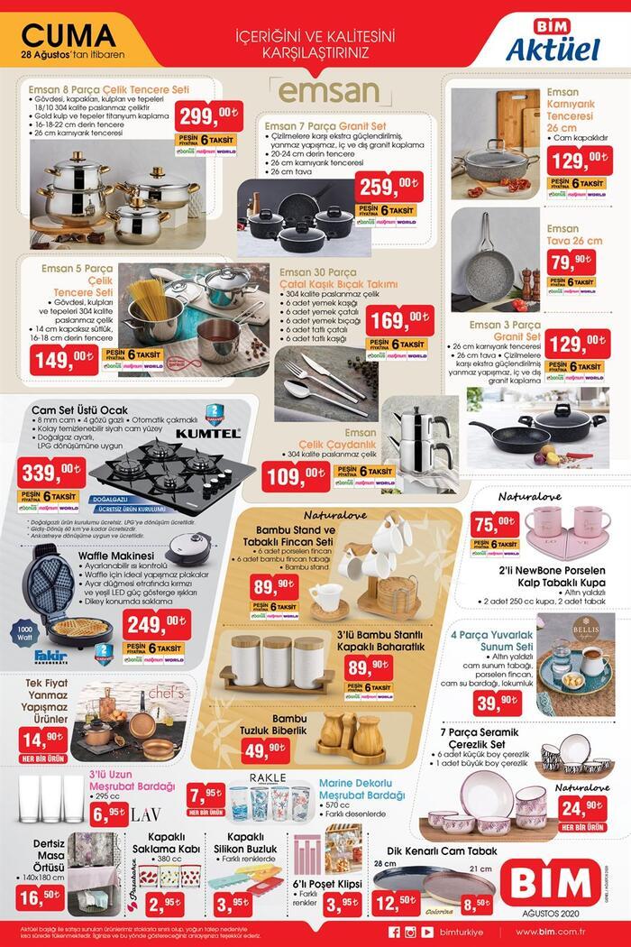 2 sayfa! BİM aktüel 28 Ağustos 2020 kataloğu yarın BİM mağazalarında! Ekonomi